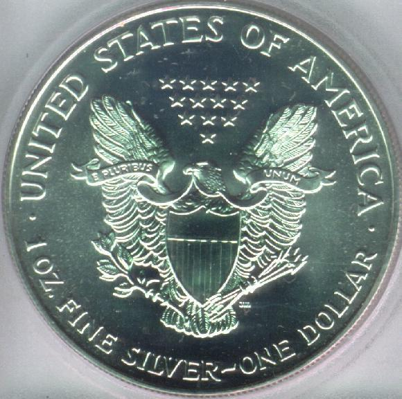 Bullion Silver Coin One Dollar Reverse