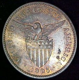 Philippines Coin 1905 Peso Obverse