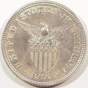 Philippines Coin 1903 Twenty Centavos Reverse