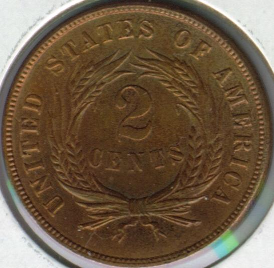 American Two Cent Coin Reverse