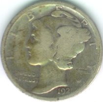 Grading Coins Very Good Mercury Dime