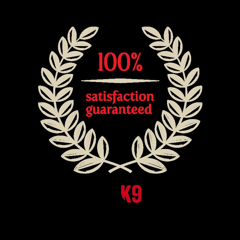 CCK9 Guarantee Satisfaction Seal