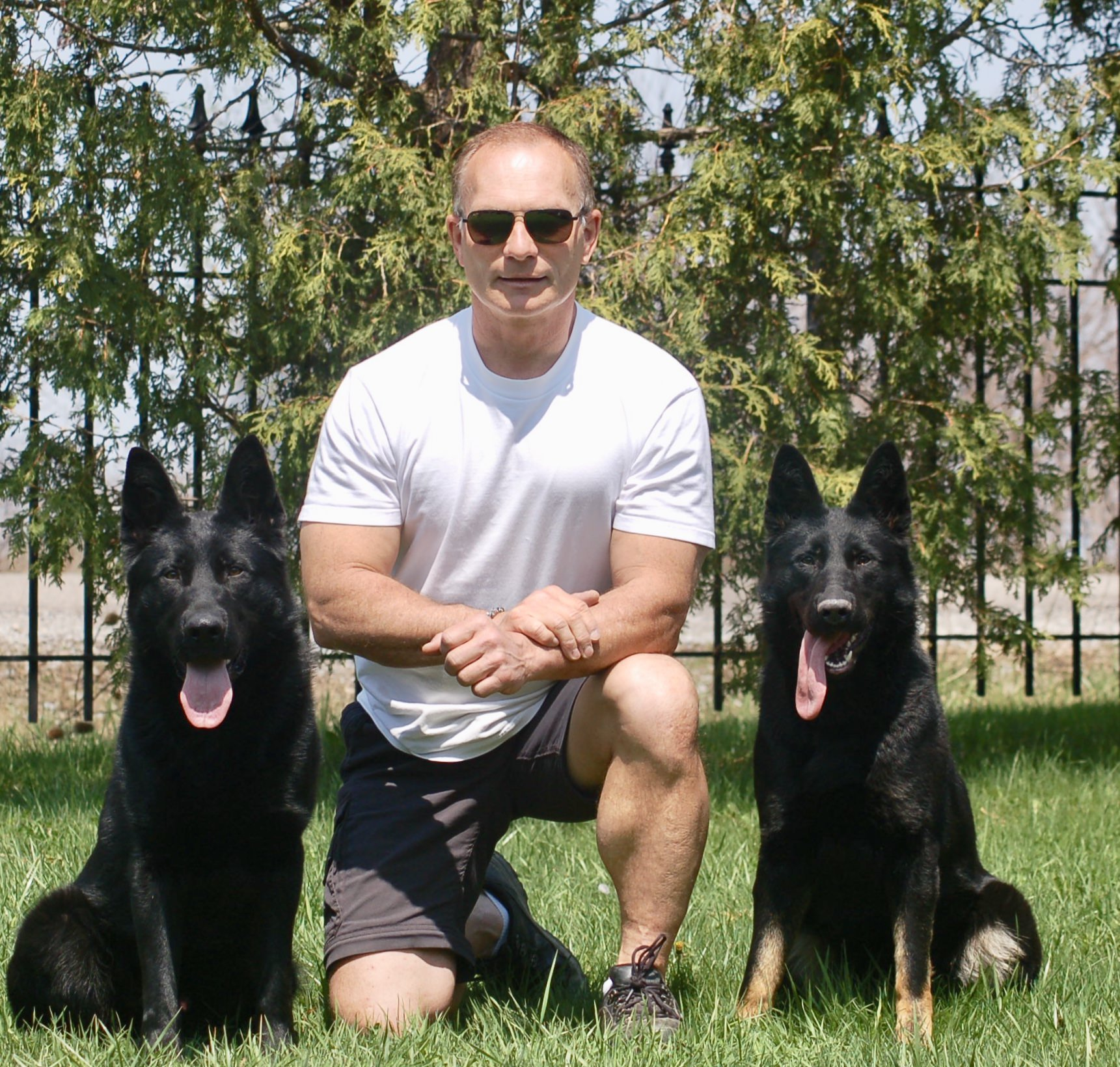CCK9 Owner with two trained protection dogs