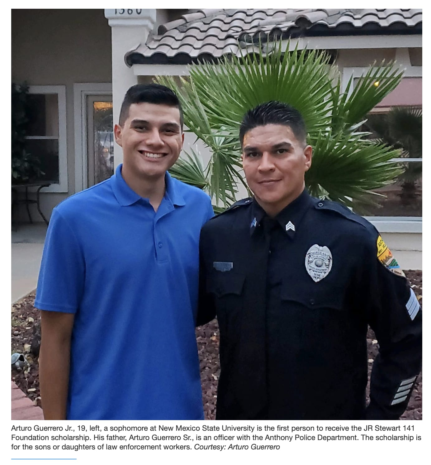 Son of Anthony police officer awarded first J.R. Stewart scholarship