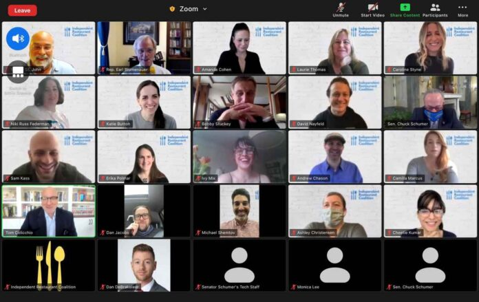 Screenshot of 25 people on a virtual Zoom meeting.