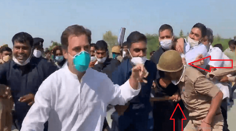 Rahul Gandhi, Stopped On Way To Hathras