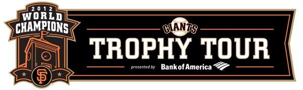 South San Francisco SF Giants World Series Trophy Tour