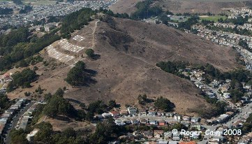 The front side facing South has been bought and preserved by the City of South San Francisco. The northern facing slope is what is looking to be saved from development