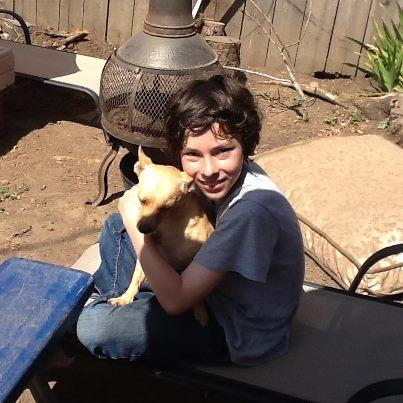 Blake with his dog Fox