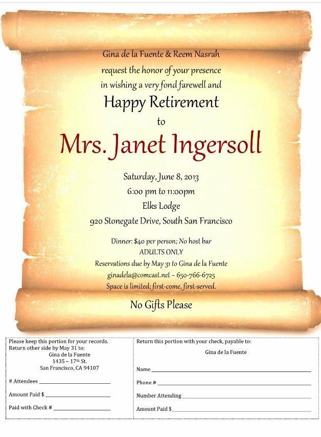 Janet Ingersoll retirement