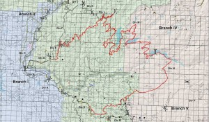 Active line map with staged and completed containment efforts for 8/28. By the Southern Area Incident Management Team.Total acres: 184,481