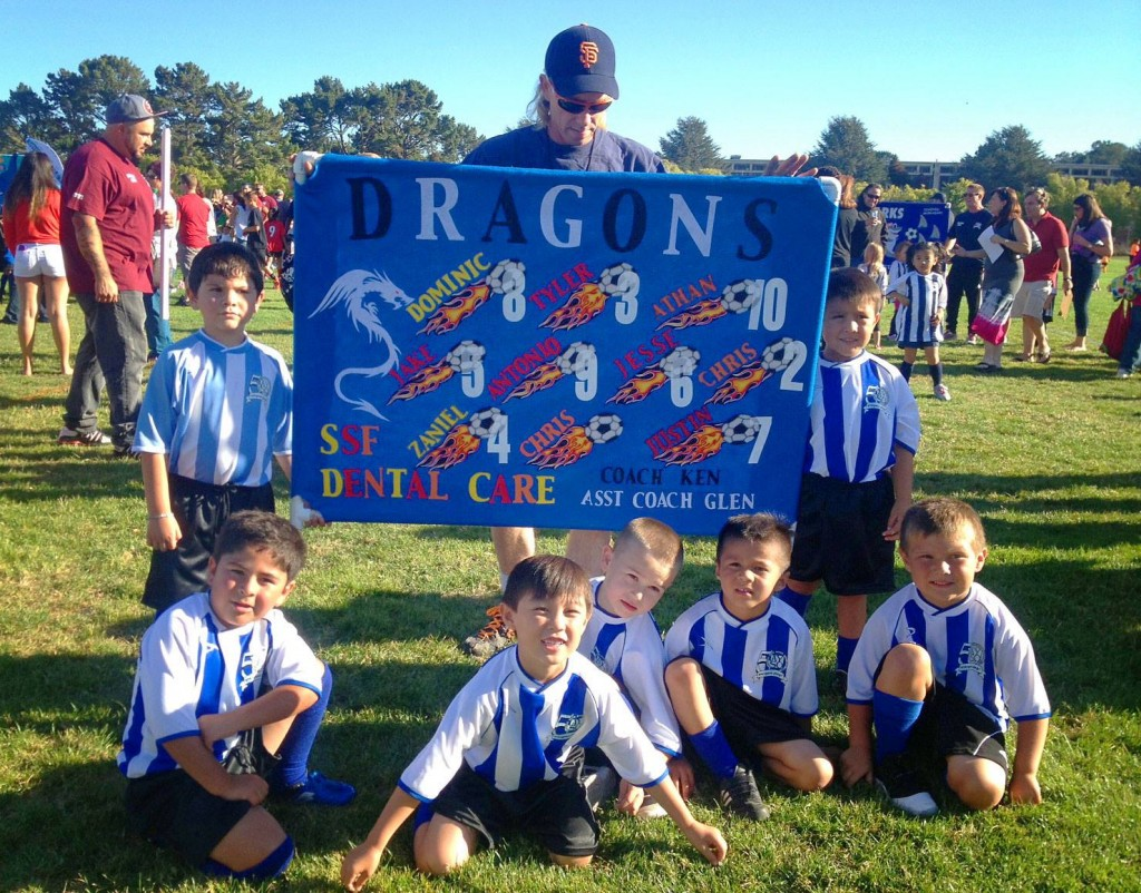 SSF Dental Care are the proud sponsors of AYSO team DRAGONS.