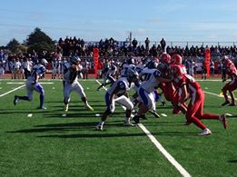 No score early in second quarter, but SSF is threatening. Photo John Baker