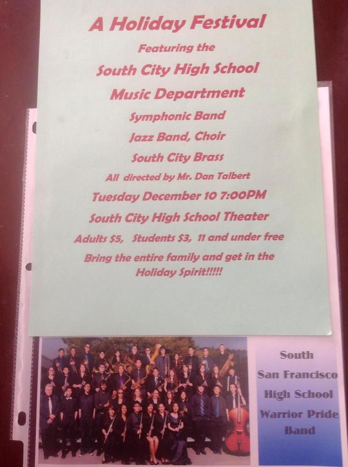 12.13 SSFHS holiday band choir