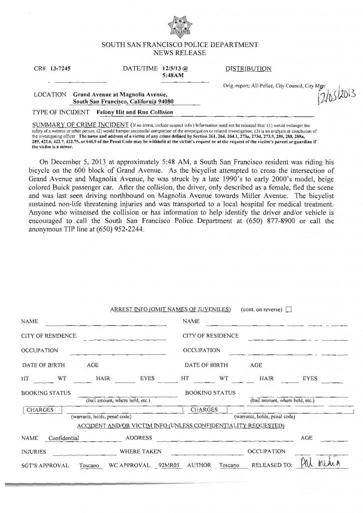 SSFPD 12.5.2013 Felony HitnRun Grand at Mag-page-001