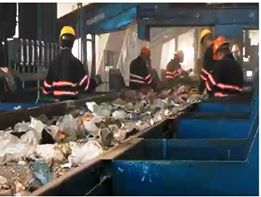 Workers separating recyclables at the plant. Photo: SSF Scavengers Website Video