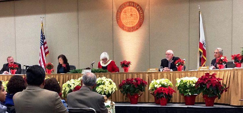 Our new council is presented with Karyl Matsumoto as Mayor Photo: ESC  Photo: ESC