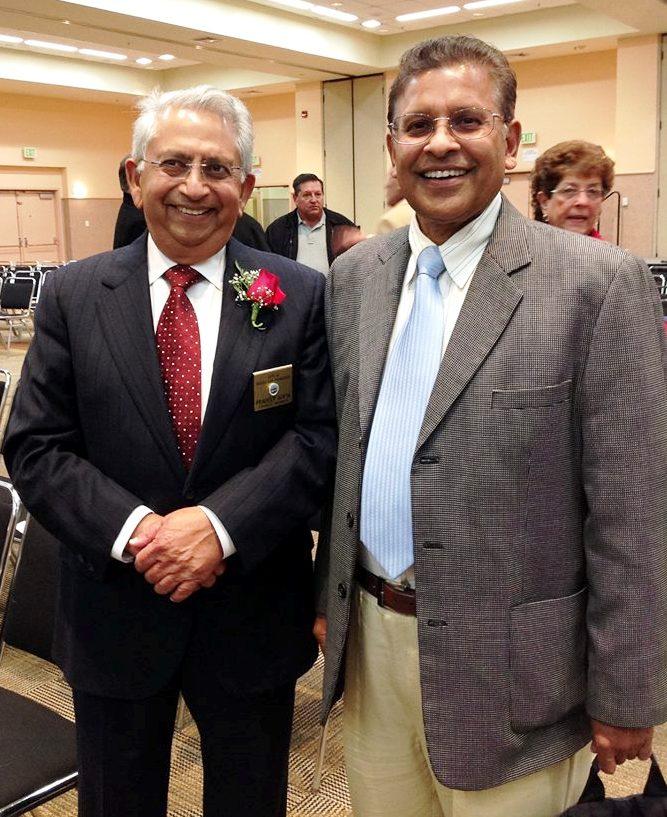Newly sworn in elected Councilmember Pradeep Gupta with South City resident and community organizer Sonny Koya Photo: ESC
