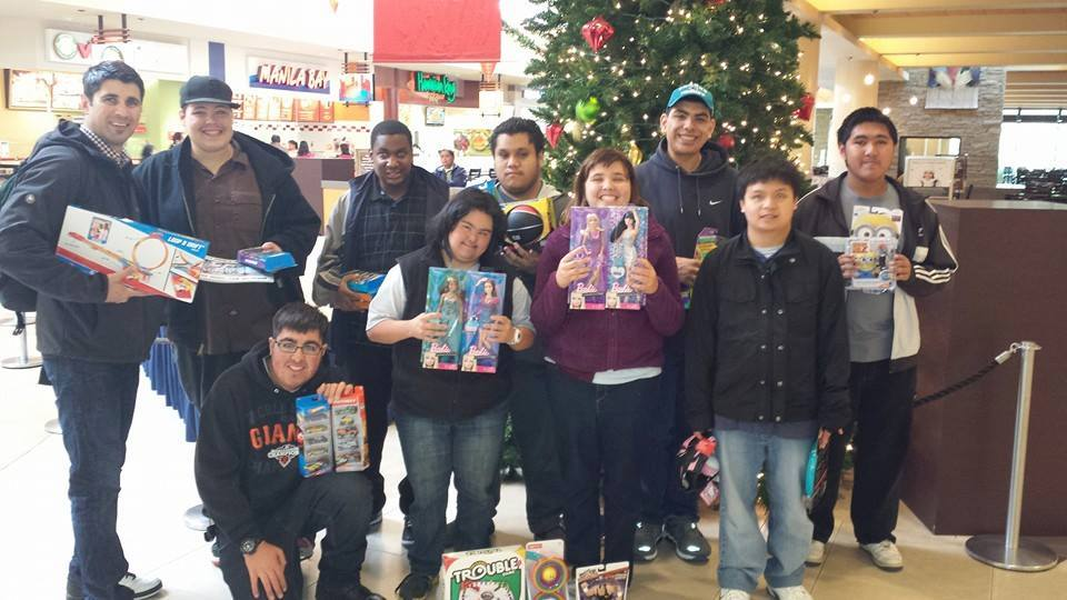 Serramonte Del Rey students, lead by teacher Crystal Cabarle, bought gifts to donate to Juliana's Journey Toy Drive