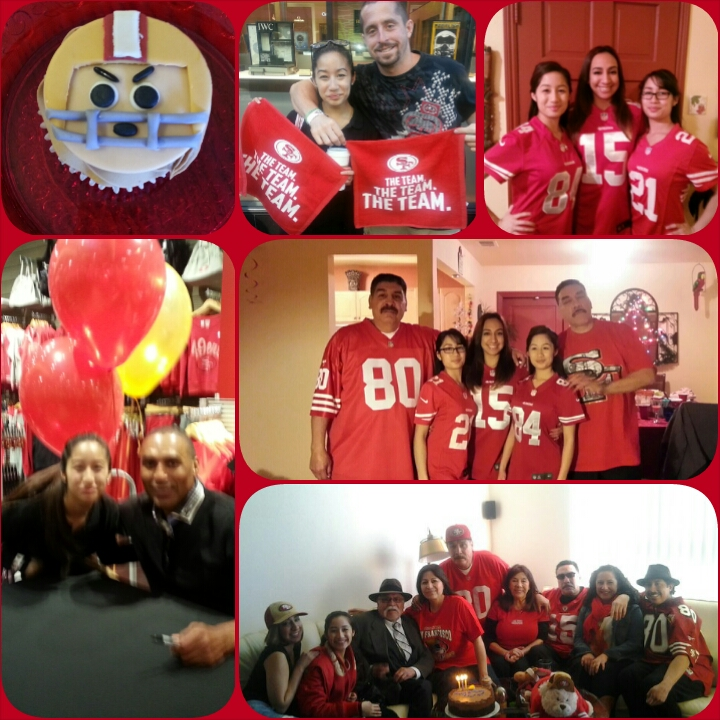 49er cupcake made by delights by lisa, niner gang! Oh Hi from me and Roger Craig! Photo: Alyssa Chan