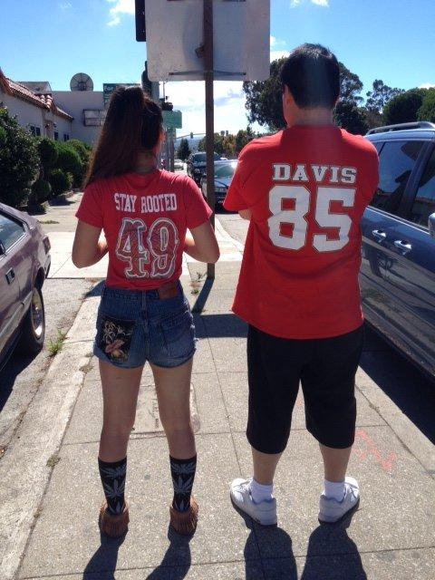 Father & Daughter 49er Fans Photo: Terri Samn
