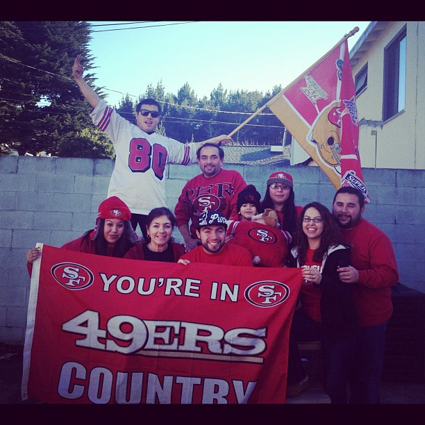 The Valle Family have been 49er fans since 1976! Photo: Will Valle