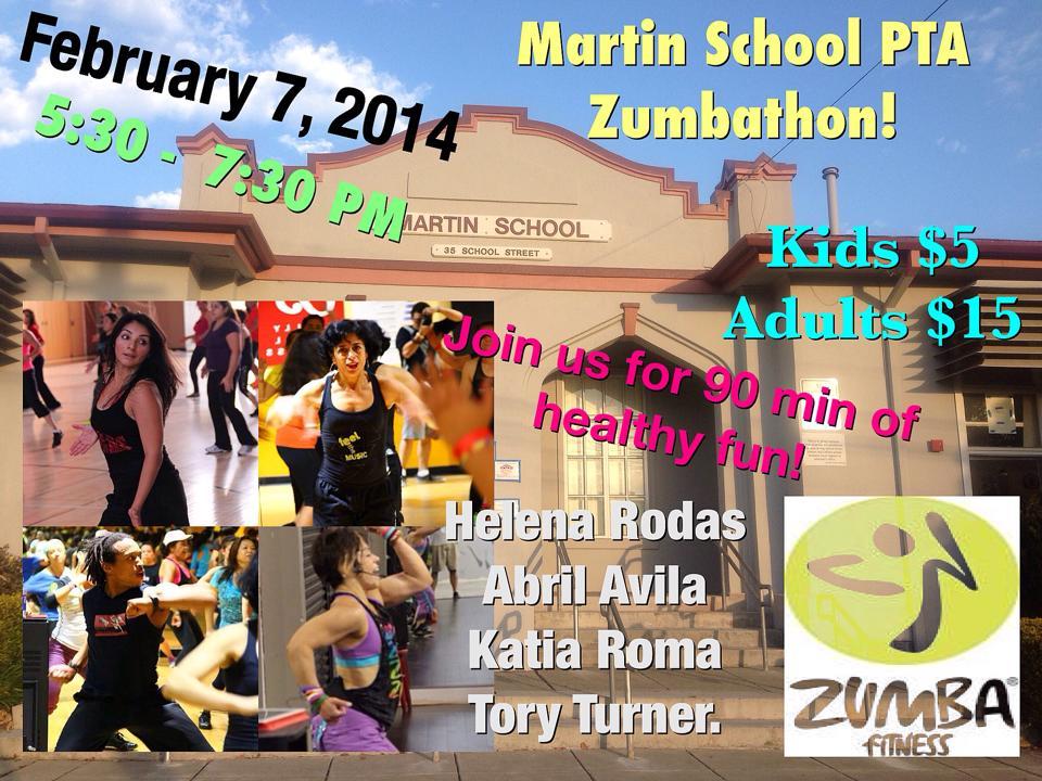 Martin School PTA Zumbathon 1.10.14