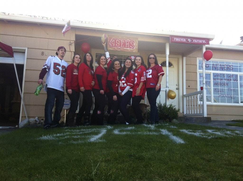 The Sotelo Family and Friends GO NINERS! Photo Dawn Sotelo