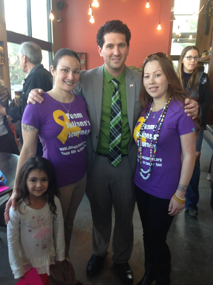 Daly City Mayor David Canepa with Angelique & her daughter Alyssa, Patrica