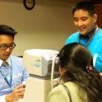 Alvin Chua and Victor Wong, MD Optometry doing glaucoma test