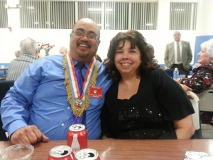 Grand President Joe Reza and his wife at the Red & White Dinner Banquet