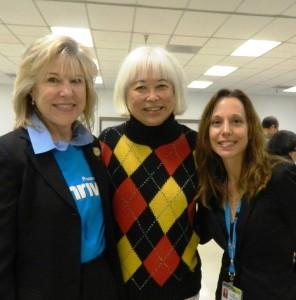 Sheila Fusaro, AMGA, SSF Mayor Karyl Matsumoto and Stacey Wagner Director Public Affairs San Mateo