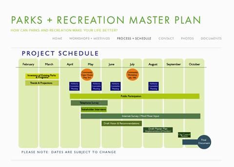 PR master plan project schedule 4.2014