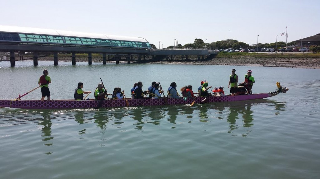 Photo: SMC Harbor District Citanina Tan & Rose Gao Oyster Point Dragons Non-profit Dragon Boat Sport Team www.OysterPointDragons.org