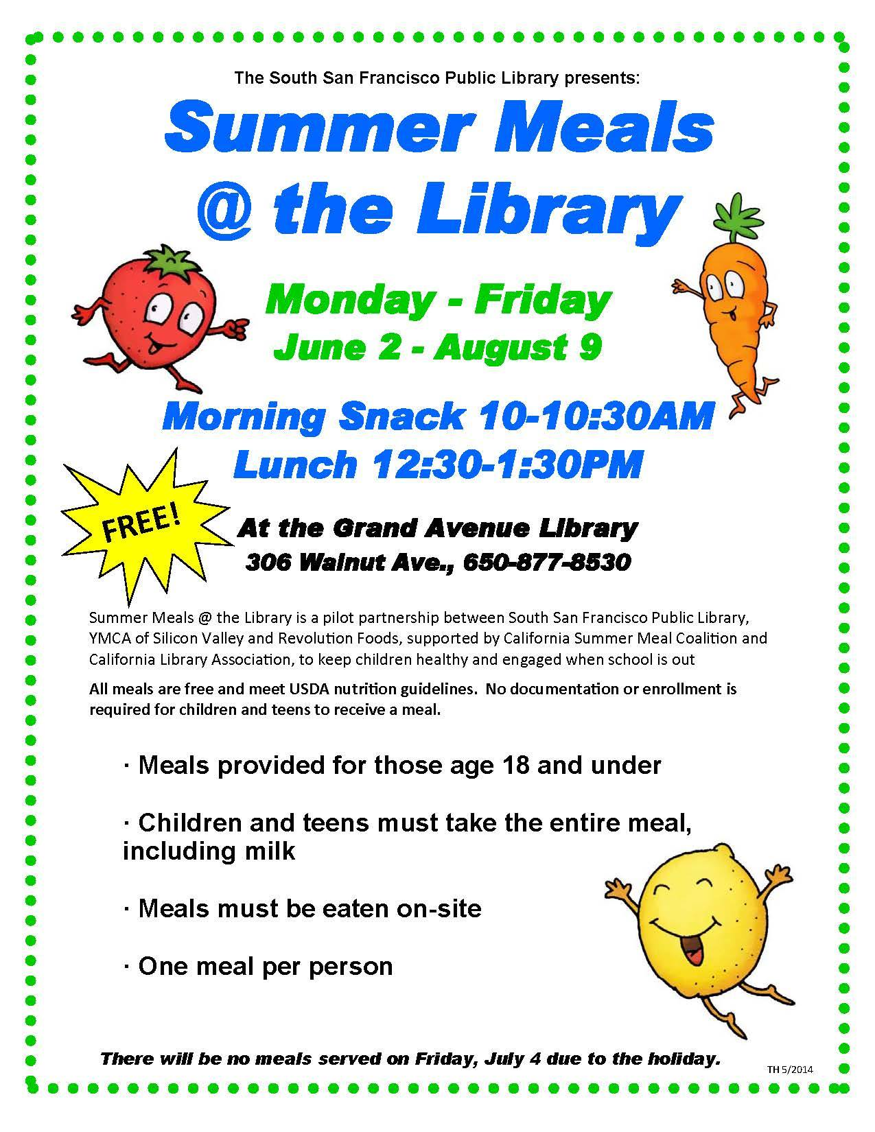 Free lunches & snacks at Grand Ave library