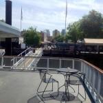 Plenty of outdoor seating on the Delta King Photo ESC