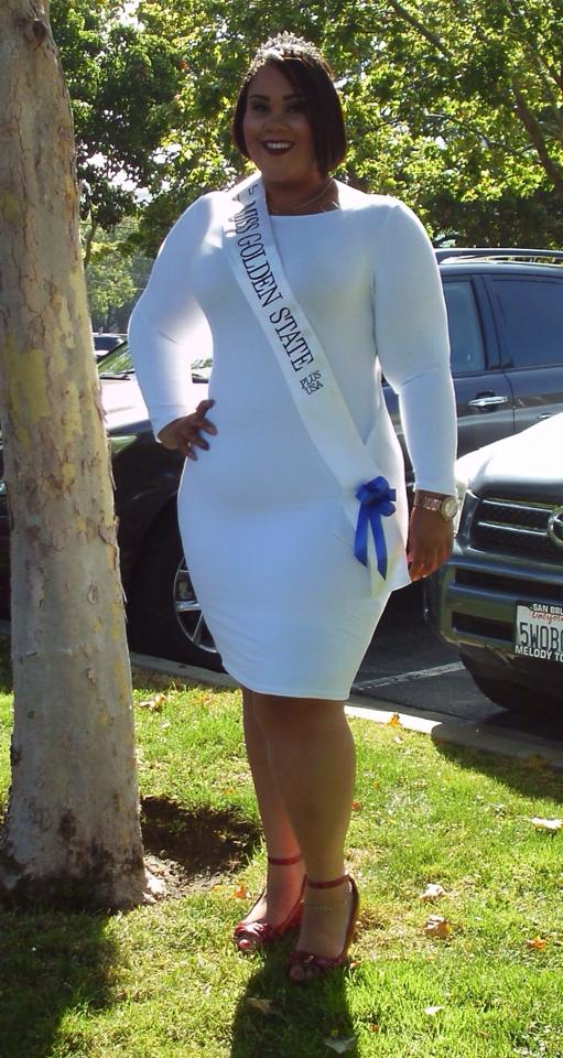 """Helping young girls learn to love themselves in the now and not after they those 5 pounds."" Miss Golden State Plus USA"