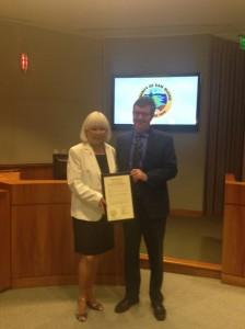 Mayor Matsumoto & SMC Supervisor Dave Pine Photo: City of SSF