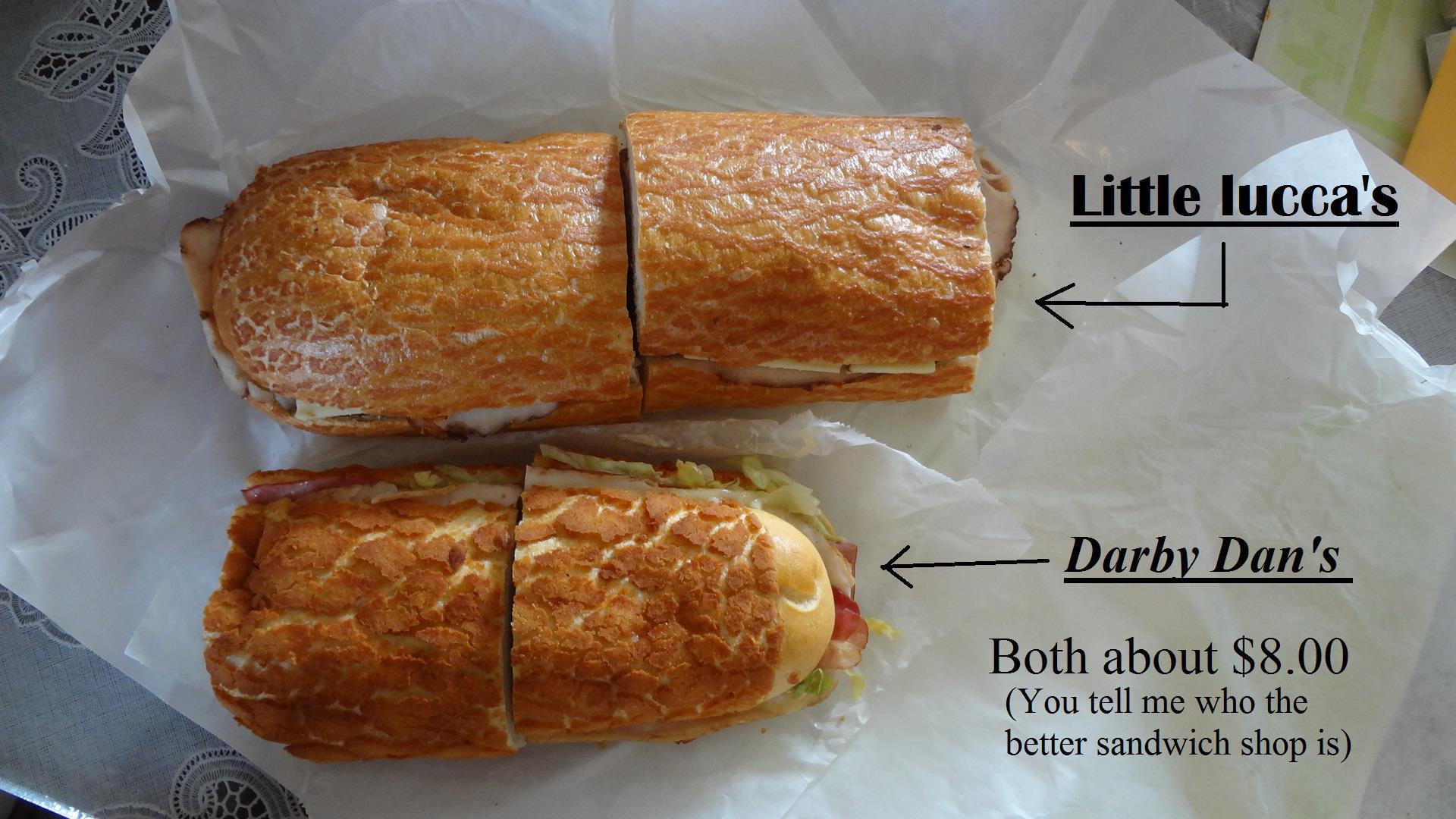 little lucca darby dan sandwiches