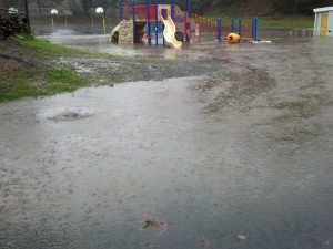 Monte Verde Elementary School was flooded once again during this past storm Photo: Maurice Goodman