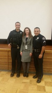 police officer Martin with Rosalia