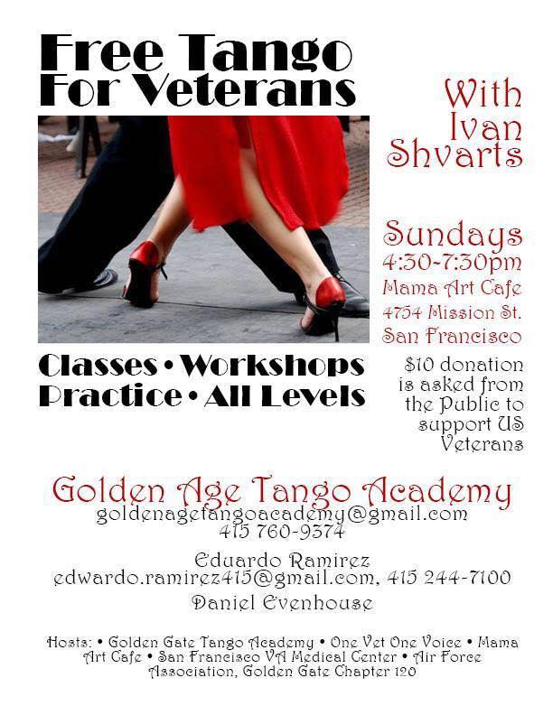 free tango for vets
