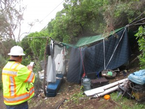 A homeless encampment in South San Francisco Photo courtesy of Thomas Carney Code & Safety Inspector SSFFD