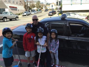 Some of the happy recipients with Officer Chetcuti