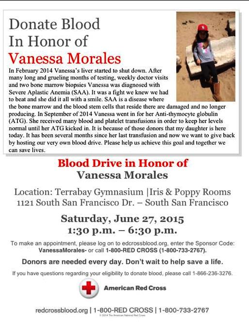 blood drive for vanessa morales