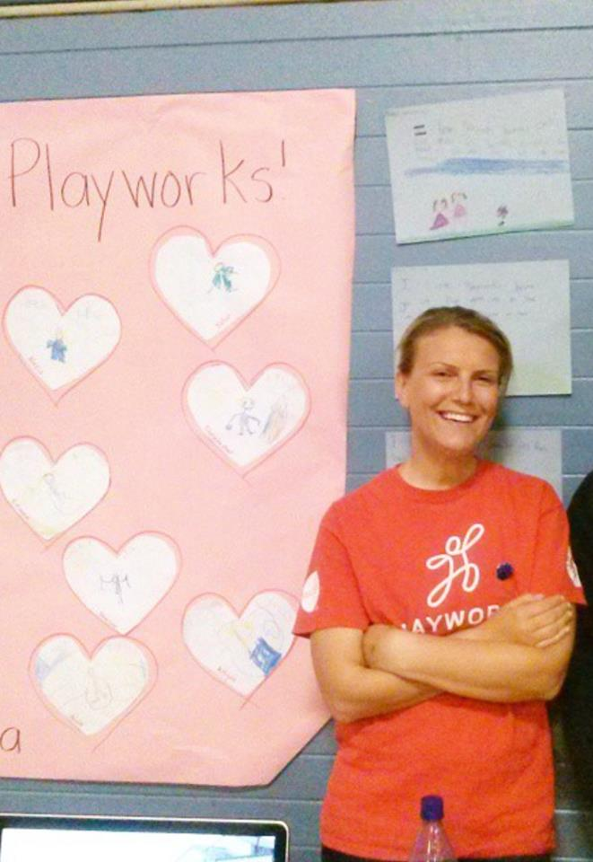 PlayWorks Coach Lisa at Spruce Elementary School