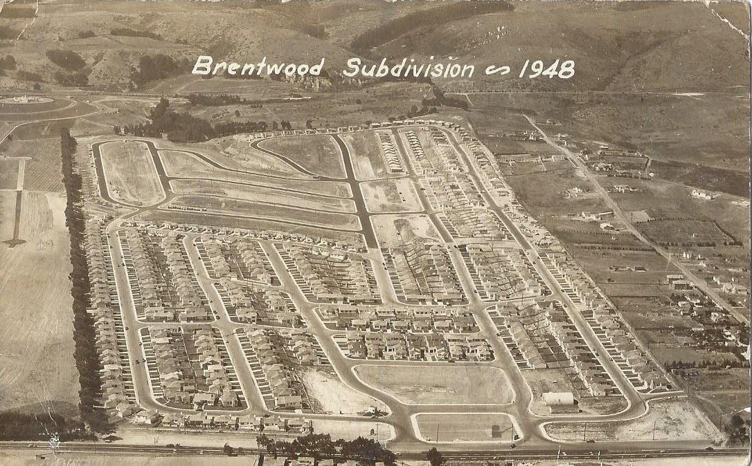The 1948 Brentwood neighborhood which Ray Bagley helped build and still lives there today. Photo: Bonnie Tognetti