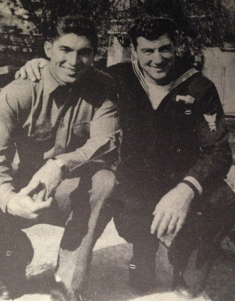 Brothers Dick and Ted Jennings Although Dick was in the Army and Ted a Navy man, the two boys were both based near Honolulu.