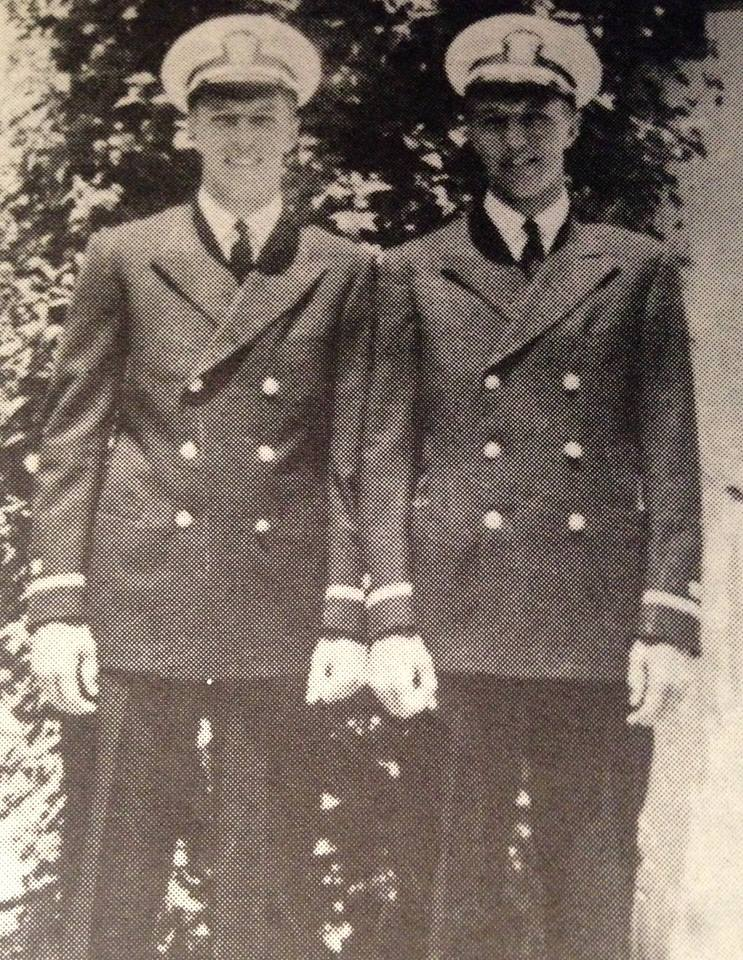 Brothers Richard and Robert Lautze Both lieutenants in the Navy. They served for more than two years in various Pacific outposts.