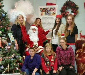 Santa with Clearlake volunteers